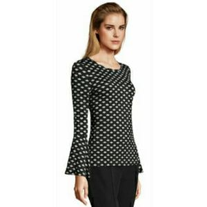 {Adrianna Papell} printed bell sleeve top